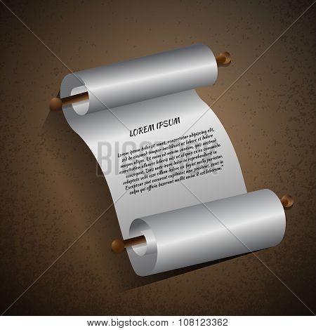 White Paper Roll Vector Eps 10