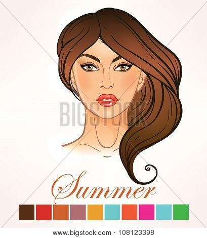 Seasonal skin color types for women Summer.