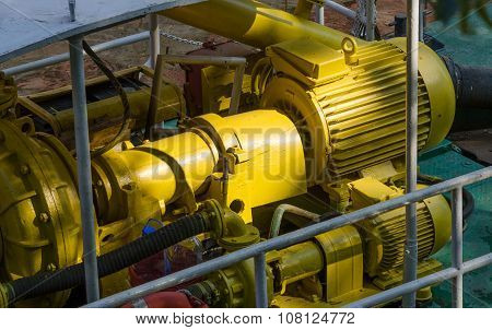 Electric motors driving water pump