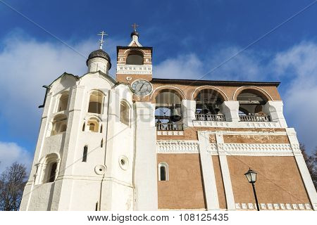 Belfry Saviour Euthymius monastery at  Suzdal was built in  16th century, the Golden Ring of Russia
