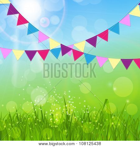 Happy Easter Background Vector Illustration