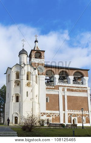 Suzdal, Russia -06.11.2015. Belfry Saviour Euthymius monastery was built in  16th century, the Golde
