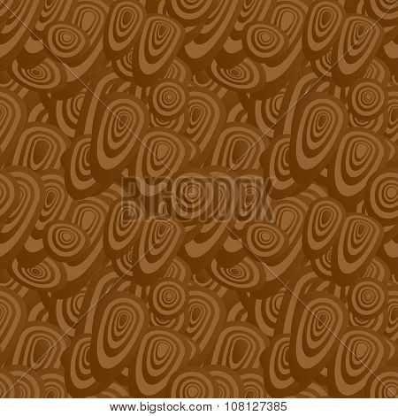 Brown seamless oval pattern background