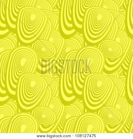 Yellow seamless oval pattern background