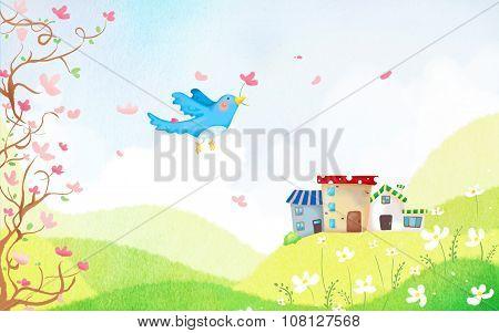 Spring awakening of nature
