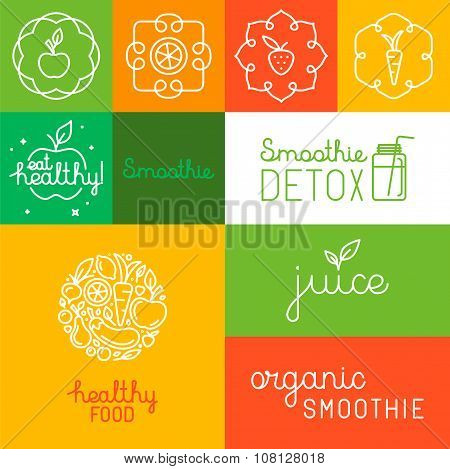 Organic Juice - Packaging Design Elements