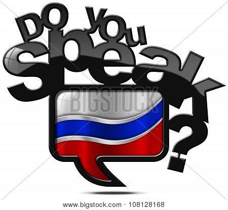 Do You Speak Russian - Speech Bubble