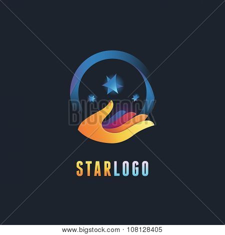 Vector Abstract Emblem And Logo Design Template
