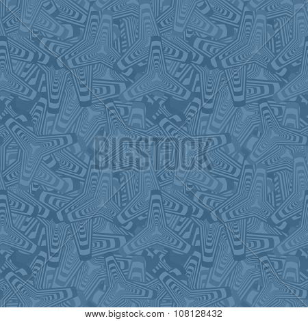 Blue seamless curved polygon pattern background