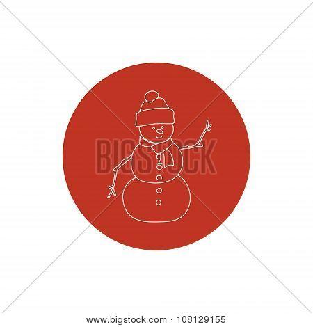 Linear Icon Christmas Snowman