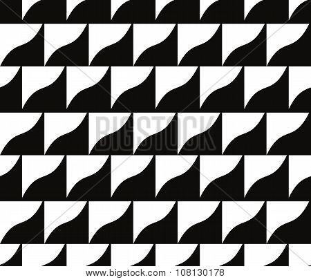 Mosaic monochrome Tiles Seamless Pattern, Vector Background.