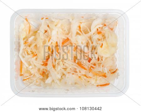 Sauerkraut isolated on white background