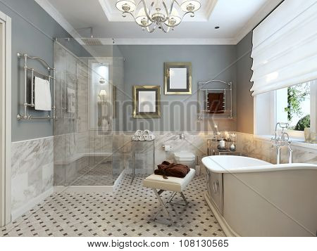 Bright Bathroom Classic Design