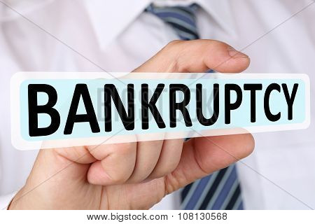 Businessman Business Concept With Bankruptcy Depts Crisis Bankrupt Financial