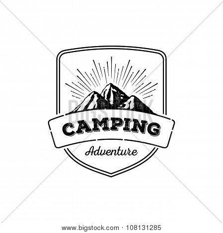 Camping Grunge Badge
