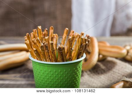 Disposable Cup With Stick Biscuits