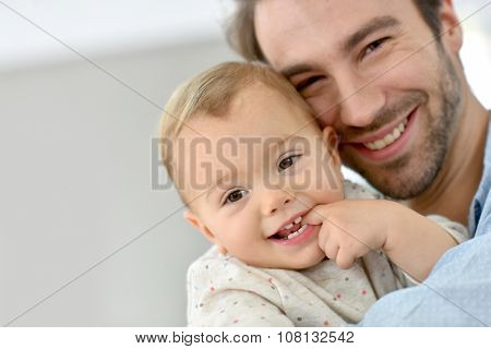 Portrait of daddy with baby girl