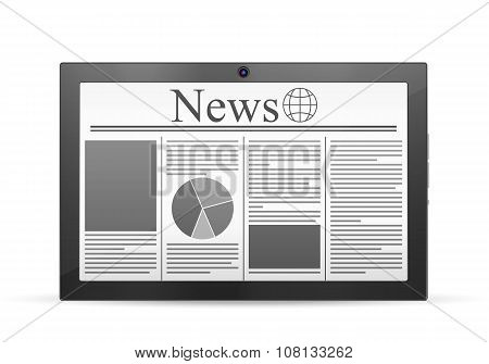 Tablet Newspaper