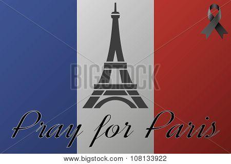 Pray for Paris flag