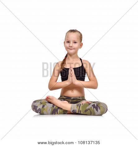 Little Girl Doing Namaste