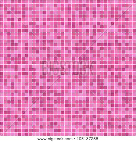 Pink pixel mosaic background