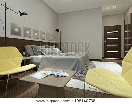 Bedroom Interior In Contemporary Style