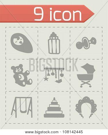 Vector Baby icon set