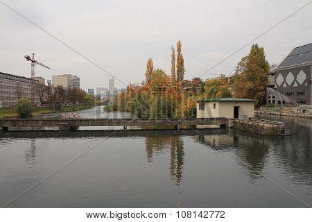 Autumn Scene In Zurich
