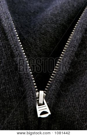 Black Sweater Zipper