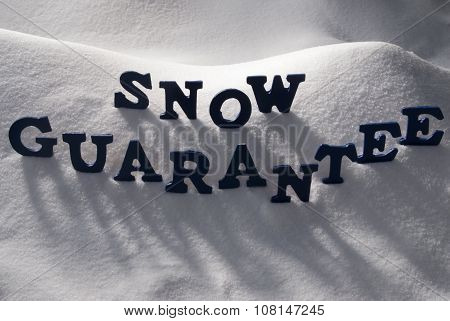 Blue Word Snow Guarantee