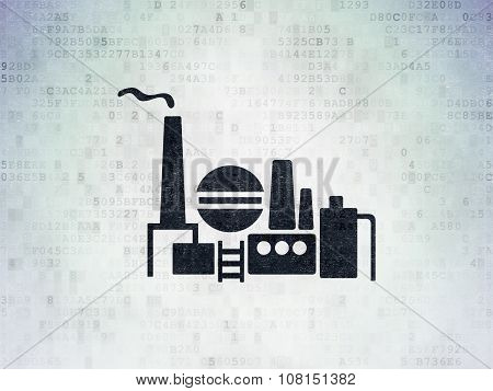 Finance concept: Oil And Gas Indusry on Digital Paper background