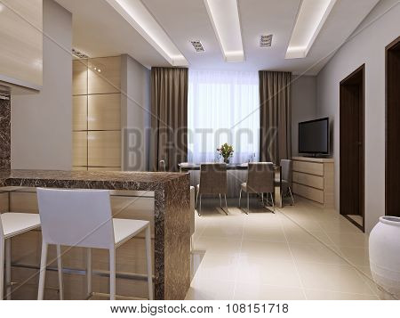 Kitchen And Dining Room Modern Style