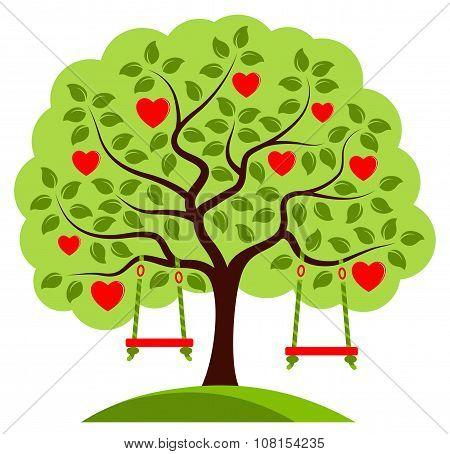 Heart Tree With Swings