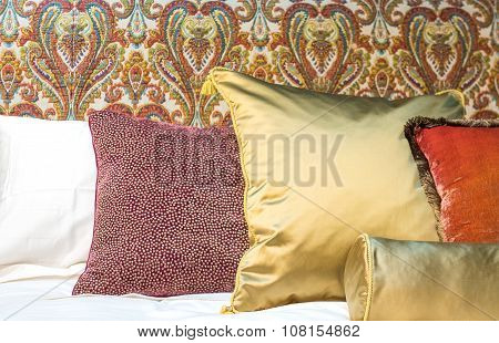 Luxury Cushions On Bed