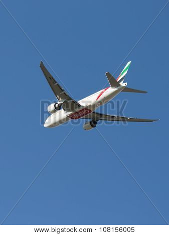 Passenger Boeing 777 Takes Off