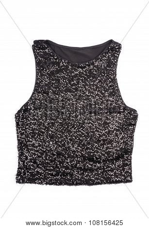 Women's Black Sequence Tank Top