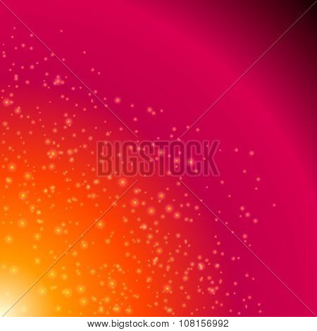 Light-cosmic-explosion-birth-star-pink-background