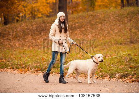 Walk In The Autumn Park