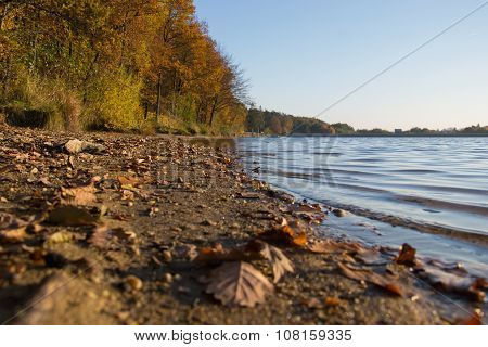 Side Of The Lake ,lake In The Fall, Autumn Loch