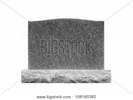 Grave Stone Isolated on White