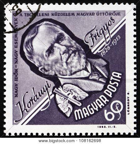 Postage Stamp Hungary 1963 Frigyes Koranyi De Tolcsva, Physician