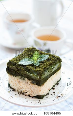 Japanese Confectionery, Green Tea Cake