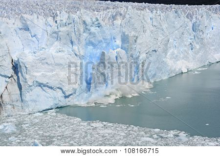 Ice Calving Off Of Glacier
