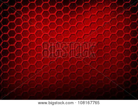 red cellular metal background