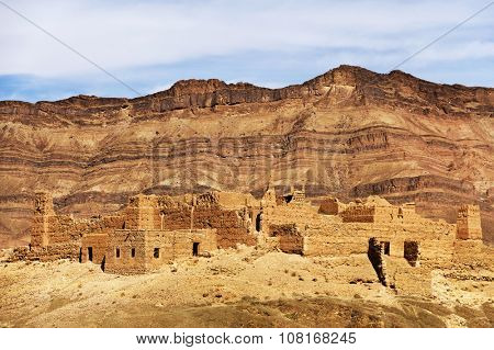 Moroccan kasbah in Draa Valley, Africa