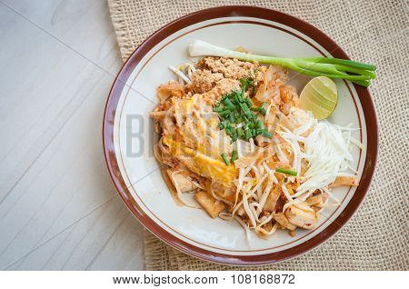 Thai Style Noodles, Pad Thai, Thailand's National Dishes, Stir-fried Rice Noodles