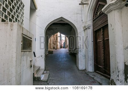 An interior part of an old city, Muscat, Oman.