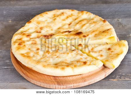 Ossetian Pie With Cheese And Potatoes