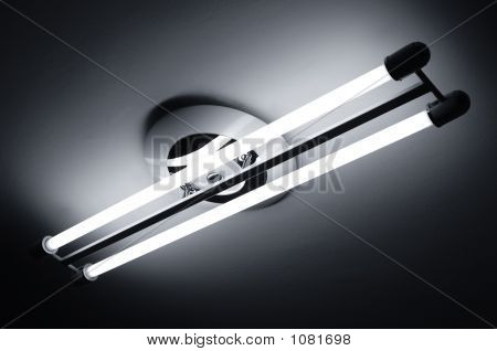 Fluorescent Lamps Lighted