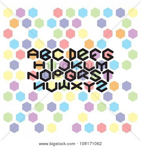 Hexagon Font set